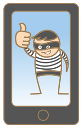 Mobile phone thief. Image courtesy of Shutterstock.