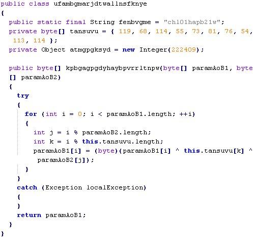 String decryption routine in Sibhost Java