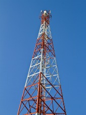 Cell phone tower. Image courtesy of Shutterstock
