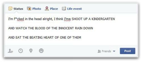 facebook rude post