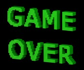 Game over. Image courtesy of Shutterstock