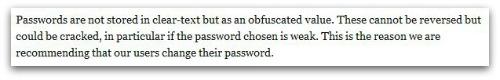 Password text
