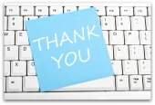 Thank you note. Image courtesy of Shutterstock.