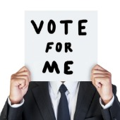 Vote for me. Image courtesy of Shutterstock