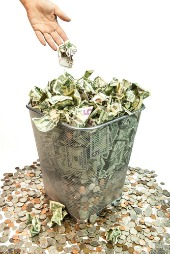 Wasted money. Image courtesy of Shutterstock