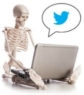 Skeleton on laptop. Image courtesy of Shutterstock