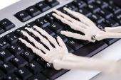 Skeleton hands. Image courtesy of Shutterstock