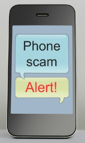 SMS scam. Image courtesy of Shutterstock