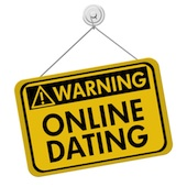 Online dating warning sign. Courtesy of Shutterstock