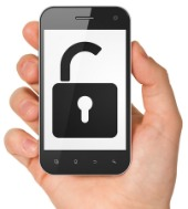 Unlock smartphone. Image courtesy of Shutterstock