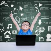 Boy in school. Image courtesy of Shutterstock.
