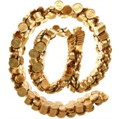 Gold coins. Image courtesy of Shutterstock.