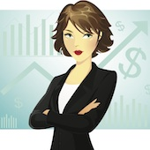 Marketing woman, image courtesy of Shutterstock