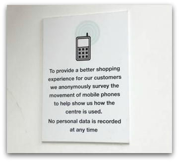 Photo of the MLS message at the Oracle Shopping Centre, Reading, UK