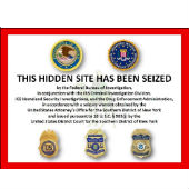 Screenshot of seized Silk Road website