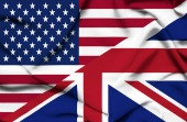 US UK flags. Image courtesy of Shutterstock