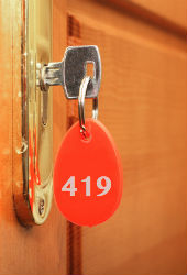 Hotel room key, image courtesy of Shutterstock