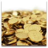 Bitcoins. Image courtesy of Shutterstock.