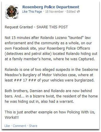 RPD FB post