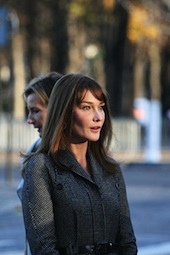 Image of Carla Bruni-Sarkozy courtesy of Shutterstock