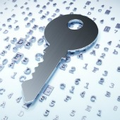 Encrypted key. Image courtesy of Shutterstock