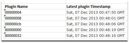 Plugin timestamps