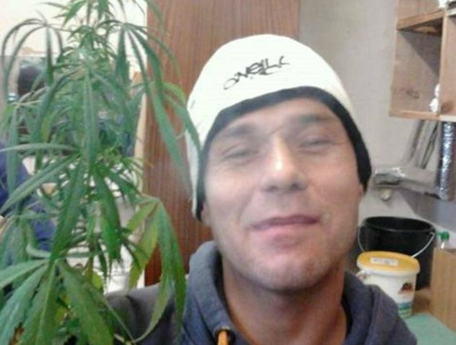 Image of prisoner's cannabis selfie from Facebook