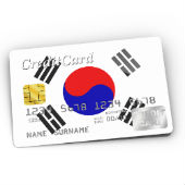 South Korea credit card image courtesy of Shutterstock, 116809015