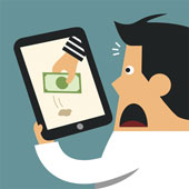 Cyber theft. Image courtesy of Shutterstock.