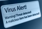 Virus alert. Image courtesy of Shutterstock