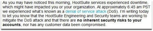 Email from Hootsuite