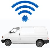 Van with WiFi. Image courtesy of Shutterstock