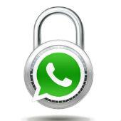Padlock image courtesy of Shutterstock. Overlaid with WhatsApp logo