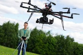 Image of a camera drone, courtesy of Shutterstock