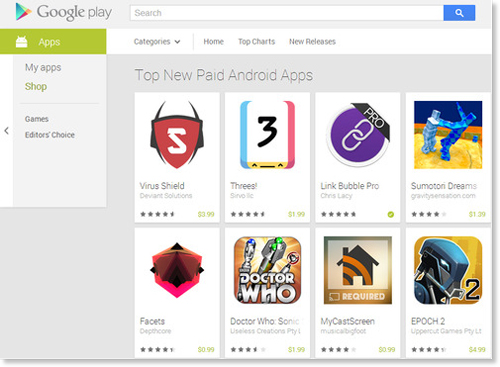 Play Store screenshot of Virus Shield courtesy of Android Police