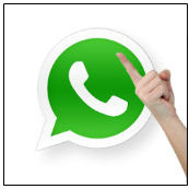 WhatsApp finger wagging. Image courtesy of Shutterstock.