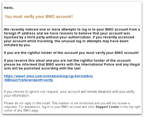 BMO email