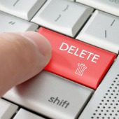 Delete button. Image courtesy of Shutterstock.