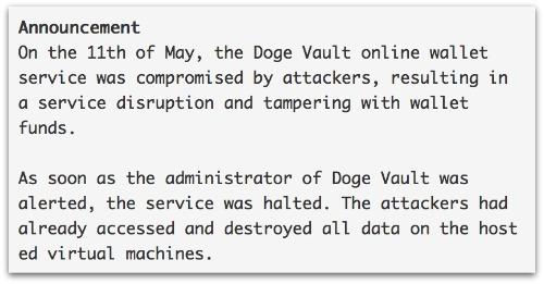 Dogecoin statement