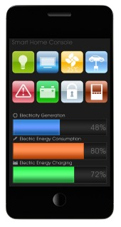 Smart home app. Image courtesy of Shutterstock