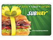 Subway gift card CC