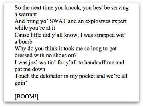 SWAT threat Elonis screenshot