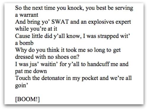 SWAT threat Elonis screenshot