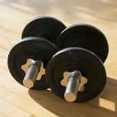 Dumbbells. Image courtesy of Shutterstock