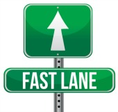Fast lane. Image courtesy of Shutterstock.
