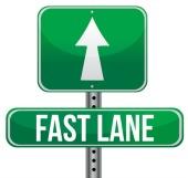 Fast lane. Image courtesy of Shutterstock.
