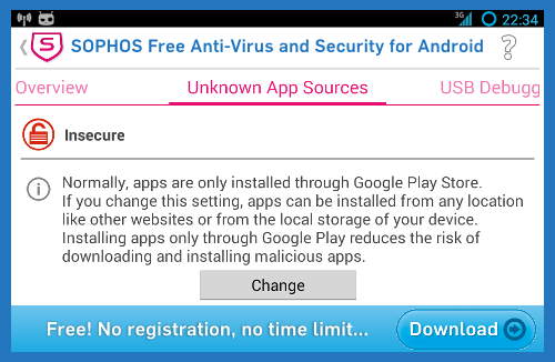 Click to get Sophos Anti-Virus for Android...