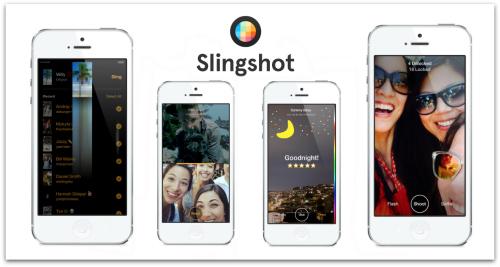 Screenshots from Facebook Slingshot