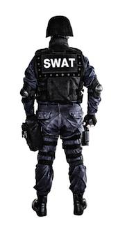 SWAT team image courtesy of Shutterstock