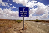 Mobile phone area, Australian outback, courtesy of Shutterstock